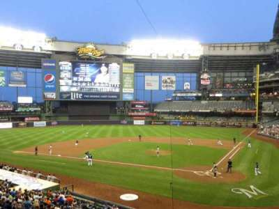 Miller Park, section: 221, row: 1, seat: 1