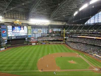 Miller Park, section: 429, row: 3, seat: 19