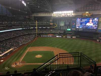 Miller Park, section: 416, row: 11, seat: 19
