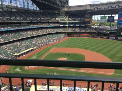 Miller Park, section: 415, row: 1, seat: 10