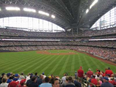 Miller Park, section: 238, row: 6, seat: 1