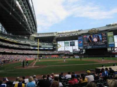 Miller Park, section: 115, row: 10, seat: 5