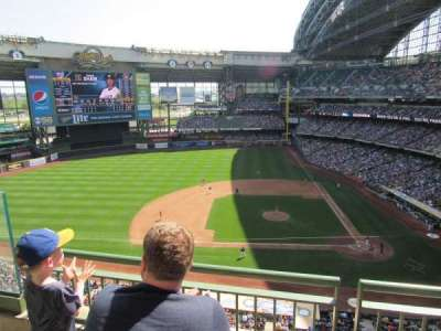 Miller Park, section: 428, row: 2, seat: 17