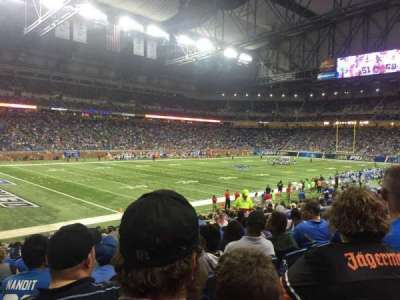 Ford Field, section: 101, row: 19, seat: 7