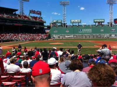 Fenway Park, section: Field box 31, row: K, seat: 2