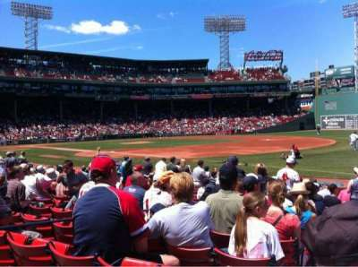 Fenway Park, section: Field box 11, row: K, seat: 4