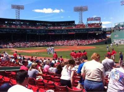 Fenway Park, section: Right Field Box 8, row: K, seat: 1