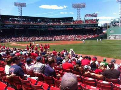 Fenway Park, section: Right Field box 95, row: Bb, seat: 1