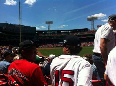 Fenway Park, section: Right Field box 90, row: Ee, seat: 1
