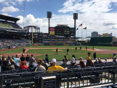 PNC Park, section: 113, row: C, seat: 12