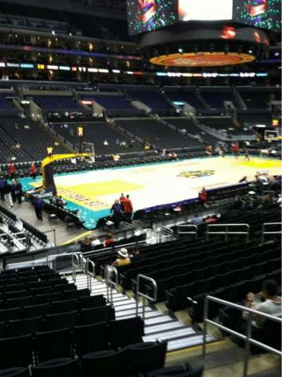 Staples Center, section: 104, row: 18