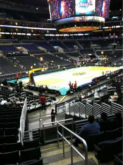 Staples Center, section: 105, row: 20, seat: 1
