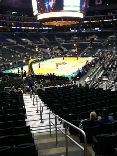 Staples Center, section: 106, row: 20, seat: 1