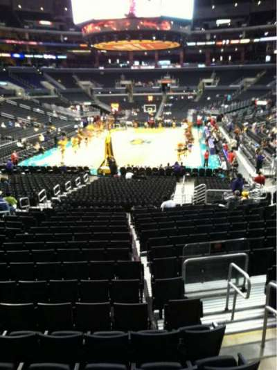 Staples Center, section: 106, row: 18, seat: 19
