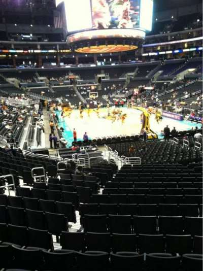 Staples Center, section: 107, row: 18, seat: 13