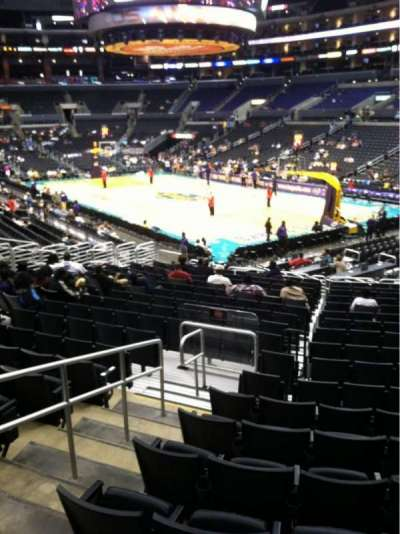 Staples Center, section: 108, row: 20, seat: 13