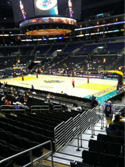 Staples Center, section: 108, row: 18w, seat: 27