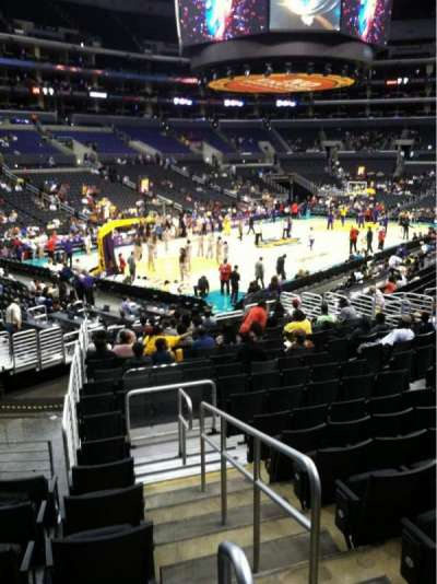 Staples Center, section: 114, row: 20, seat: 19