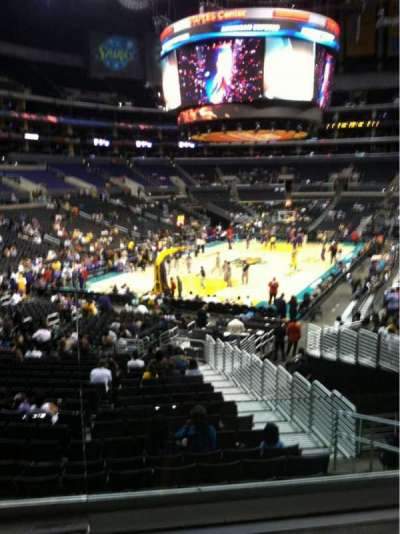 Staples Center, section: 215, row: 2, seat: 1
