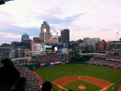 Progressive Field, section: 555, row: W, seat: 4