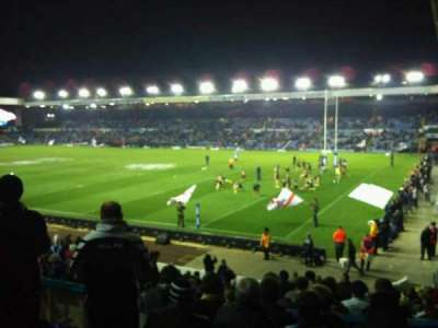 Elland Road, section: north east, row: g, seat: 063