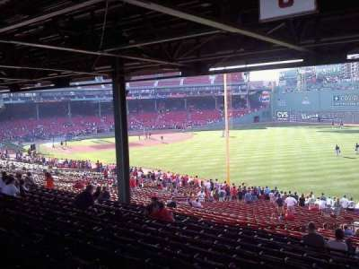 Fenway Park, section: Grandstand 6, row: 15, seat: 7