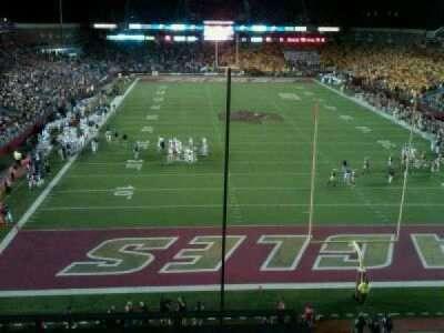Alumni Stadium, section: kk
