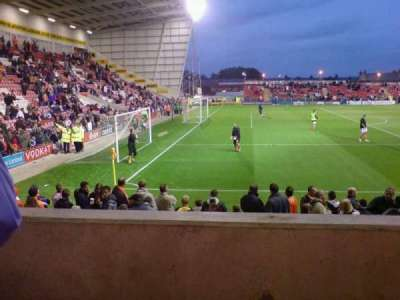 Bloomfield Road, section: North West Stand, row: J, seat: 23