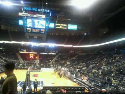 Philips Arena, section: 120, row: d, seat: 12