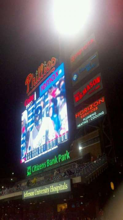 Citizens Bank Park, section: 208, row: 4, seat: 8