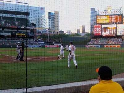 Oriole Park at Camden Yards, section: 34, row: AAA, seat: 6