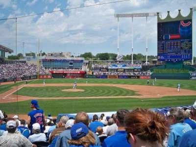 Kauffman Stadium, section: 132, row: R, seat: 5