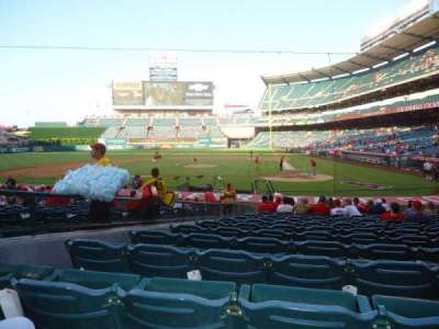 Angel Stadium, section: F114, row: U, seat: 1