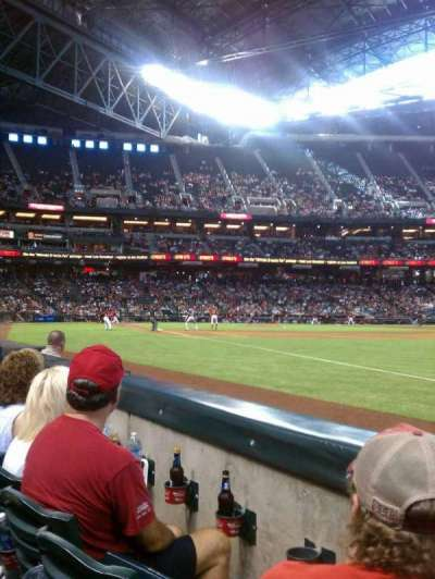 Chase Field, section: 111, row: 2, seat: 12