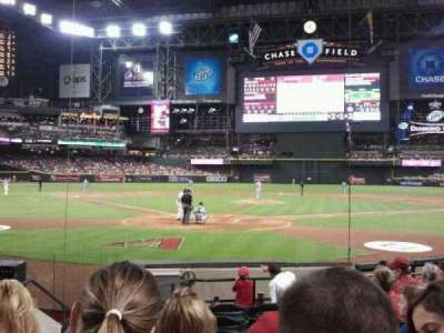 Chase Field, section: I, row: G, seat: 9