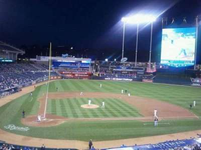 Kauffman Stadium, section: 312, row: A, seat: 15