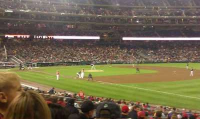 Nationals Park, section: 134, row: EE, seat: 3
