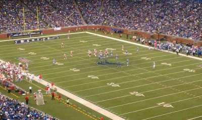 Ford Field, section: 339, row: 20, seat: 8