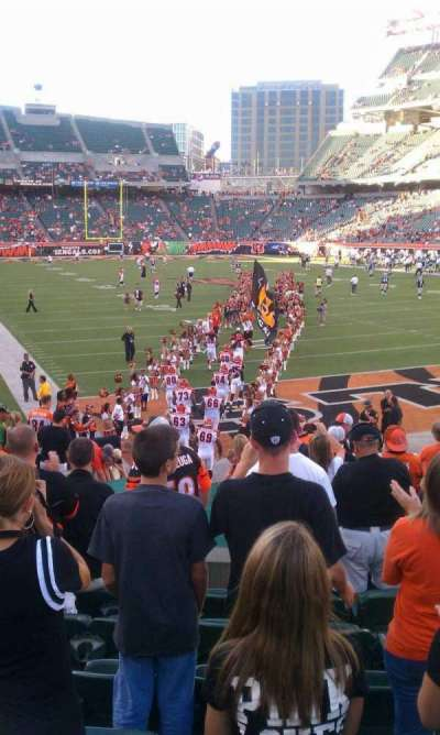 Paul Brown Stadium section end zone