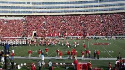Camp Randall Stadium, section: E, row: 21, seat: 5