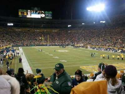Lambeau Field, section: 136, row: 24, seat: 1