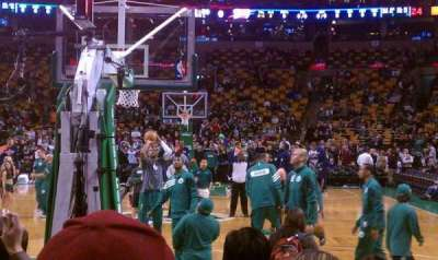 TD Garden, section: Loge 17, row: G, seat: 9