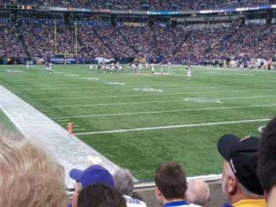 The Metrodome, section: 102, row: 5, seat: 3