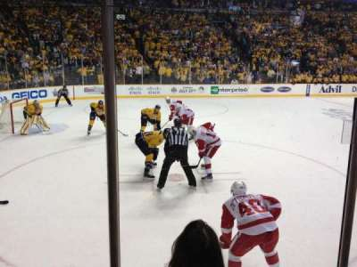 Bridgestone Arena, section: 103, row: DD, seat: 1