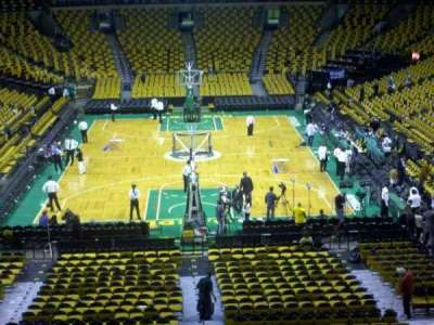 TD Garden, section BAL 323, home of Boston Bruins, Boston Celtics ...