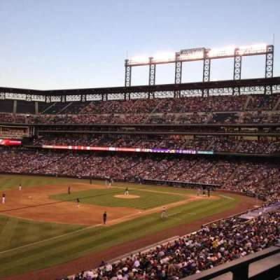 Coors Field, section: 245, row: 1, seat: 12