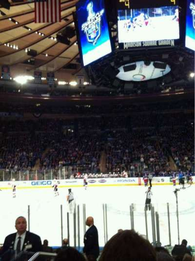 Madison Square Garden, section: 117, row: 7