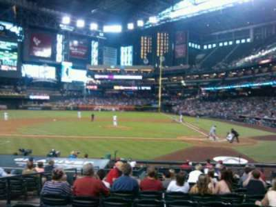 Chase Field, section: M, row: M, seat: 8