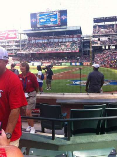 Globe Life Park in Arlington, section: 23L, row: 3, seat: 2