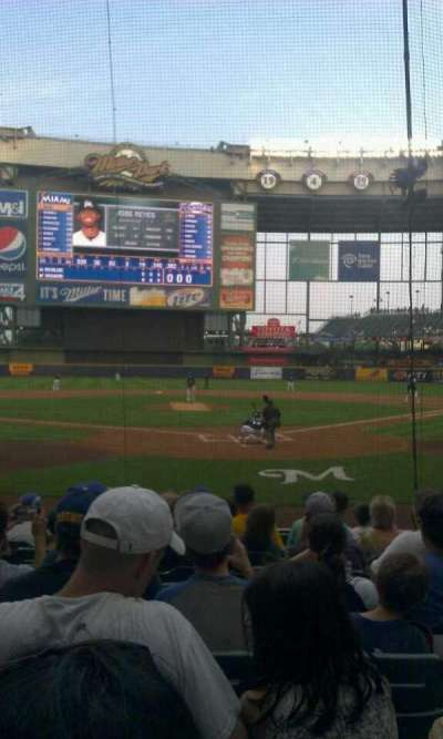 Miller Park, section: 118, row: 10, seat: 10